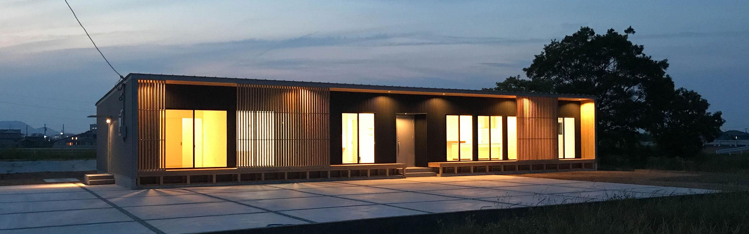 香川県高松市に建つ平屋の二世帯住宅 建築家が設計するデザイン住宅
