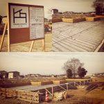 河川敷に建つ平屋の2世帯住宅 着工